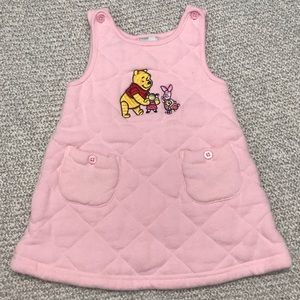 Disney Pink Pooh Bear and Piglet Sleeveless Dress